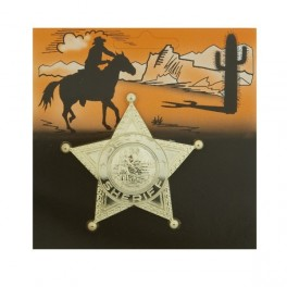 Šerifská hvězda zlatá 6 111876 - Ru