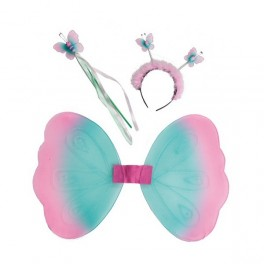 Motýlek set - křídla, čelenka, hůlka 6 13619 - Ru