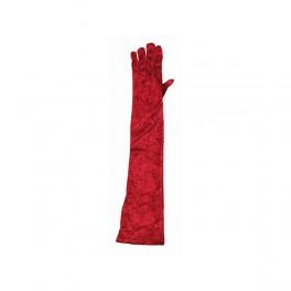 Rukavice sametové červené 6 302633č - Ru