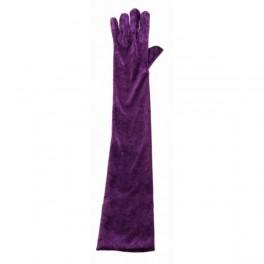 Rukavice sametové fialové 6 302633f - Ru