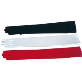 Rukavice hladké dlouhé bílé 6 302616 - Ru