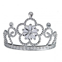 Diadém stříbrný květ 6 170628 - Ru