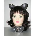 Set kočka - uši, motýlek, ocásek 17007B-Ra