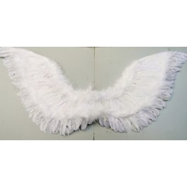 Křídla bílá péřová s lurexem 1317-Li