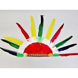 Indiánská čelenka s červeno-bílým středem PT 5186 - De