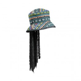 Rasta klobouk s vlasy 4 580008 - Ru