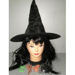 Set čarodějnice (klobouk, nos, brada, zuby, nehtové návleky) PT6087-Li