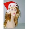 Čepice Santa Claus blikající hvězdy 116405 - Li