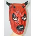 Čertovská maska- černé rohy 013070 - Li