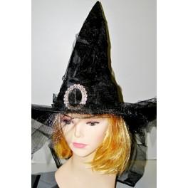 Čarodějnický klobouk stříbrná spona