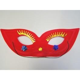 Škraboška červená brýle 2026A-Li