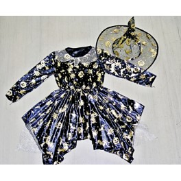 Kostým čarodějnice černozlatá 43223 - Li