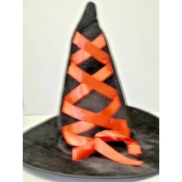 Klobouk čarodějnice černočervený 12144-3B-Li