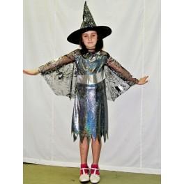 Kostým čarodějnice černostříbrná 185079 - Li