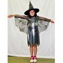 Kostým čarodějnice černostříbrná 185078 - Li