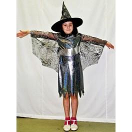 Kostým čarodejnice čiernostrieborná 185078 - Li