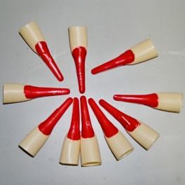 Nástavce na nechty - červený lak 20011 - Li