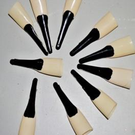 Nástavce na nechty - čierny lak 20012 - Li
