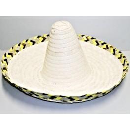 Mexický klobúk s hnědožlutým lemom 4011-Li