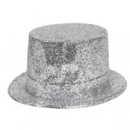 Klobouk buřinka stříbrná (flitrová) 3202G-Li