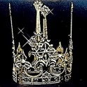 Korunka kovová zlatá 6 160733 - Ru