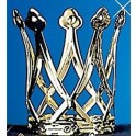 Korunka kovová zlatá 6 160719 - Ru