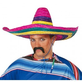 Mexický klobouk barevný 4F 13612- Gu