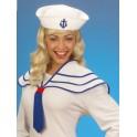 Námorníčka biely golier + čiapka 5469-b-Wi