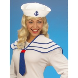 Námořnice bílý límec + čepice 5469b-Wi