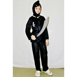 Kostým čierny Ninja (134 - 140) 12541ex- Li