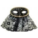 Škraboška černá s motivy noci 6459B- W