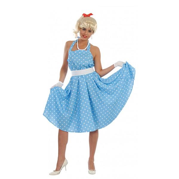 60 tá léta - modrobílé šaty 1F 80350 - Gu