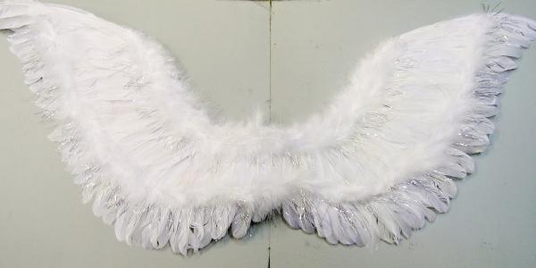 Křídla bílá péřová s lurexem 1331-Li