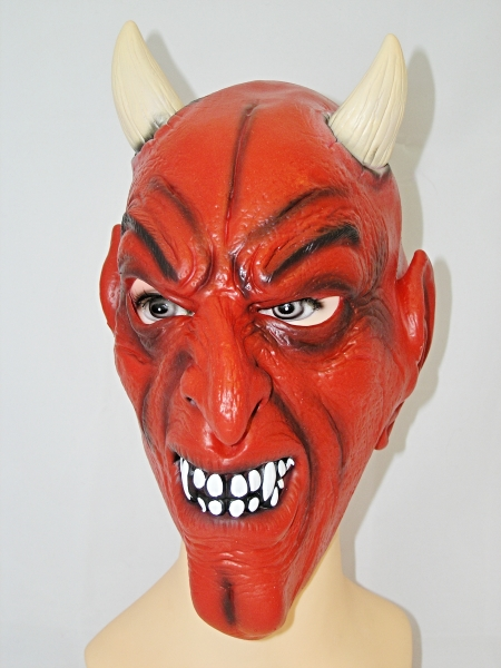 Maska Čert s bílými rohy 913072 - Li