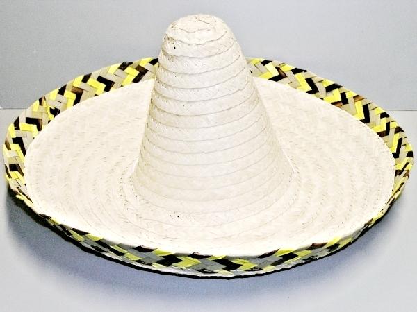 Mexický klobouk s hnědožlutým lemem 4011-Li