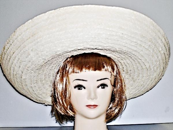 Mexický klobouk světlý široký 4012 - Li