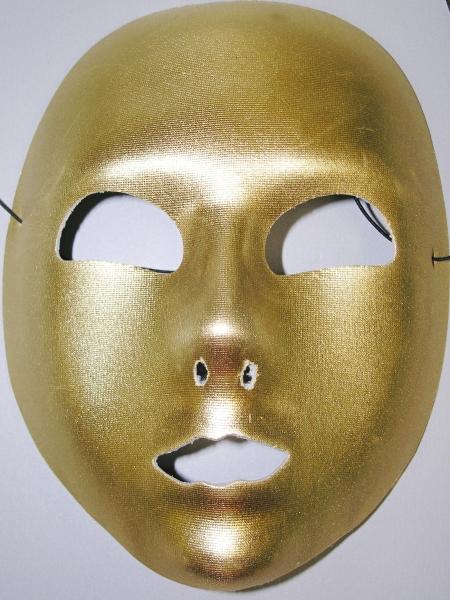 Maska zlatá Domino 6476G - Wi