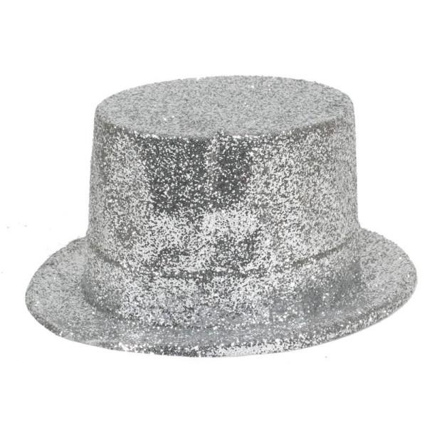 Klobouk cylindr stříbrný 8255 - Ge
