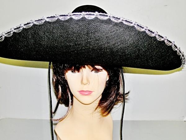 Mexický klobouk černý 3290 -Li