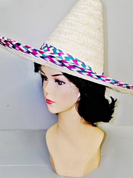 Mexický klobouk světlý 3284 - Li