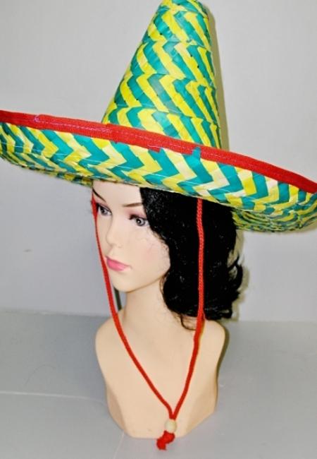 Mexický zelenožlutý klobouk 3281A - Li